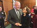 Oregon State Teacher of the Year Brett Bigham and Oregon Governor Kate Brown.jpg