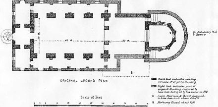 Reconstructed basilican plan of Brixworth church Original Brixworth Plan.jpg