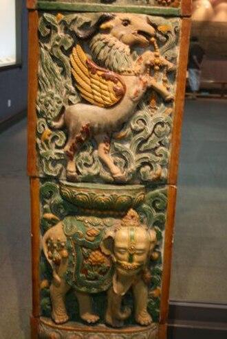 Porcelain Tower of Nanjing - Image: Original arched door (side detial) of the Porcelain Tower of Nanjing (2)