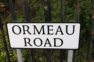 Ormeau Road Street in Belfast, Northern Ireland