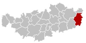 Orp-Jauche - Image: Orp Jauche Brabant Wallon Belgium Map