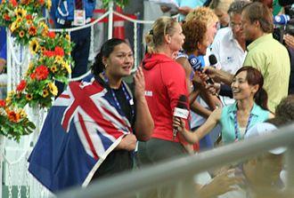 Valerie Adams - Adams celebrated her first world title in 2007