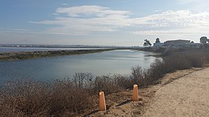 Otay River - The river as it flows at the northern extreme of Imperial Beach, California