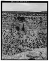 Overall view across canyon, looking east. - Shaft House Pueblito, Cuervo Canyon, Dulce, Rio Arriba County, NM HABS NM,20-DUL.V,11-1.tif