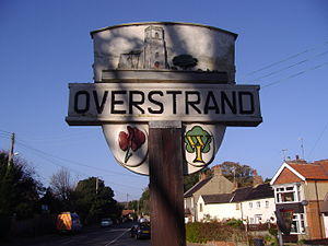 Overstrand - Image: Overstrand Village Sign 23rd Oct 2007 (2)