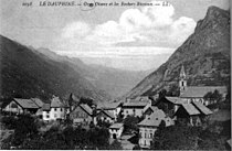 Oz-en-Oisans et les Rochers Rissioux en 1912, p152 de L'Isère les 533 communes - L L.jpg