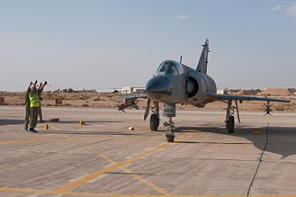 Project ROSE - A Dassault Mirage IIIO, upgraded to ROSE I standard, takes part in an Alert Scramble competition during the Falcon Air Meet 2010 exercise in Jordan.