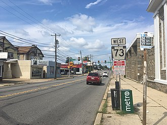 Pennsylvania Route 73 - Westbound PA 73 (Cottman Avenue) past PA 232 (Oxford Avenue) and Rising Sun Avenue in Northeast Philadelphia