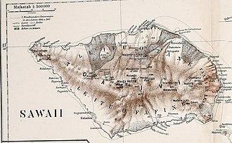 Mount Matavanu - Image: PEIP(1910) Map of Sawaii Island, Samoa