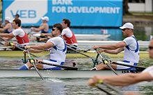 Israeli rowing in the international arena. Photo by Detlev Seyb