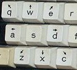 Arrow keys - WAXD keycaps of PLATO IV