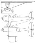 Pacer 1928 Monoplane 3-view Aero Digest April 1928.png
