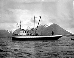 Pacific American Fisheries cannery ship Kenmore in King Cove, May 1912