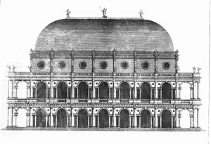Giacomo Leoni - Palladio's design for a Basilica as it appeared drawn by Leoni, in his translation of The Architecture of Palladio in Four Books (3rd. ed. vol. 1, London, 1742, Plate XX).