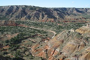 Texas Panhandle - The rugged country of Palo Duro Canyon.