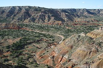 Texas Panhandle - The rugged country of Palo Duro Canyon