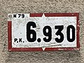 Panonceau PK 6,930 Route N79 Route Bourg St Jean Veyle 2.jpg