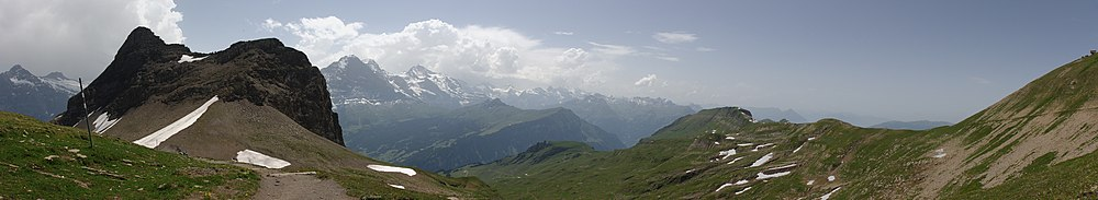 Panoramic view from Faulhorn.