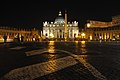 Papal Basilica of Saint Peter in the Night サン・ピエトロ大聖堂前, ローマ - panoramio.jpg