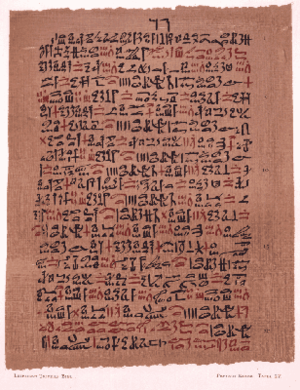 Ebers Papyrus - The Ebers papyrus suggested treatment for asthma is a mixture of herbs heated on a brick so that the sufferer could inhale their fumes.
