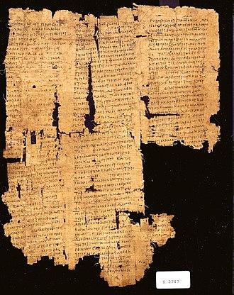 Papyrus Oxyrhynchus 16 - P. Oxy. 16