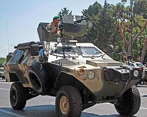 Otokar Cobra - Otokar Cobra in an Azerbaijani military parade. This Cobra is armed with a DShKM machine gun and a mounted gun shield.