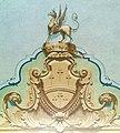 Particolare dell'affresco sullo scalone raffigurante lo stemma dei Craven.jpg