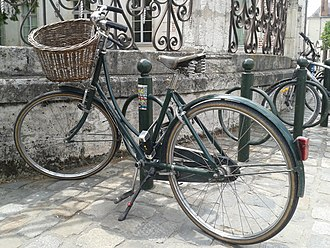 Pashley Cycles - Pashley Princess with front wicker basket and Brooks leather saddle.