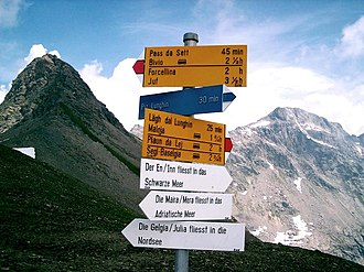 Albula Alps - Lunghin Pass (major watershed)