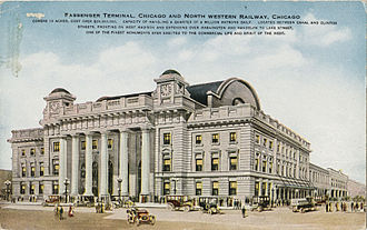 Chicago and North Western Transportation Company - Passenger terminal, Chicago and North Western Railway, Chicago, Illinois, circa 1911-1914
