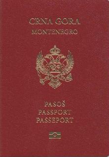 Montenegrin passport passport