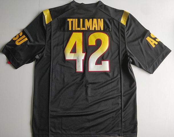 new arrival b81e6 fd909 File:Pat Tillman's Sun Devils jersey (1).jpg - Wikimedia Commons