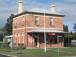 Paterson, New South Wales - Paterson Post Office on the corner of Duke and King Streets