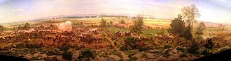Gettysburg Cyclorama - Image: Paul Philippoteaux Gettysburg Cyclorama