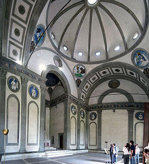 Pazzi Chapel - Interior of the Pazzi Chapel