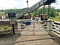 Pedestrian Level Crossing, Highley Railway Station (geograph 5483008).jpg