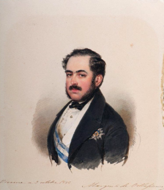 Pedro de Alcántara Álvarez de Toledo, 13th Marquis of Villafranca - Portrait of the Marquis of Villafranca by Moritz Michael Daffinger.