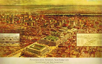 Monel - The greenish roof of Pennsylvania Station was made from monel
