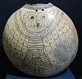 Perù, periodo lambayeque (1000-1440 ca), recipiente con gufo.JPG