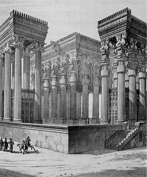 Persian column - A 19th century reconstruction of Persepolis, by Flandin and Coste