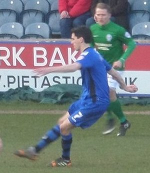 Peter Vincenti - Vincenti playing for Rochdale in 2015