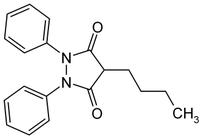 Strukturformel von Phenylbutazon