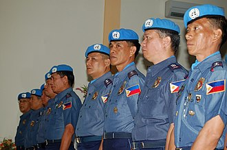 AFP Peacekeeping Operations Center - Filipino police officers serving with UNMIT in 2007.