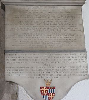 Philip Carteret Webb - Memorial in the Church of St. Peter & St. Paul, Godalming