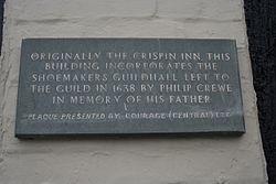 Philip crewe plaque in salisbury