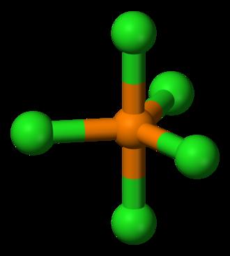 Phosphorus pentachloride - Image: Phosphorus pentachloride 3D balls