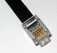 Port RJ11 6 pins