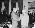 Photograph of President Truman shaking hands with Secretary of State Dean Acheson, at Acheson's swearing-in ceremony... - NARA - 200075.tif