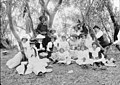 Picnic group on Federation Day at Bunker Creek above Whipstick Station, White Cliffs, NSW, 1 January 1901, by an unknown photographer. (24755002927).jpg