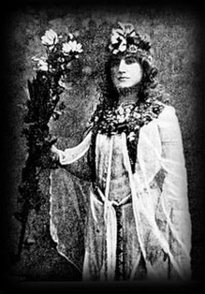 Moina Mathers - Moina Mathers in Egyptian garb for her performance of the Rites of Isis in Paris, 1899